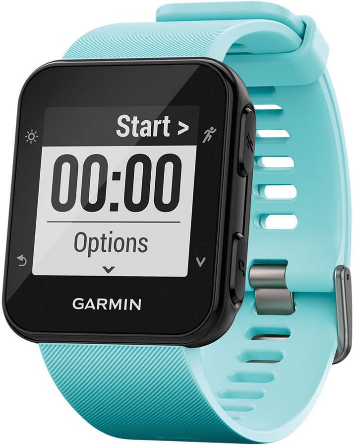 Garmin Unisex Forerunnerandreg; 35 Blue Silicone Strap GPS Smart Watch 40.7x40.7mm