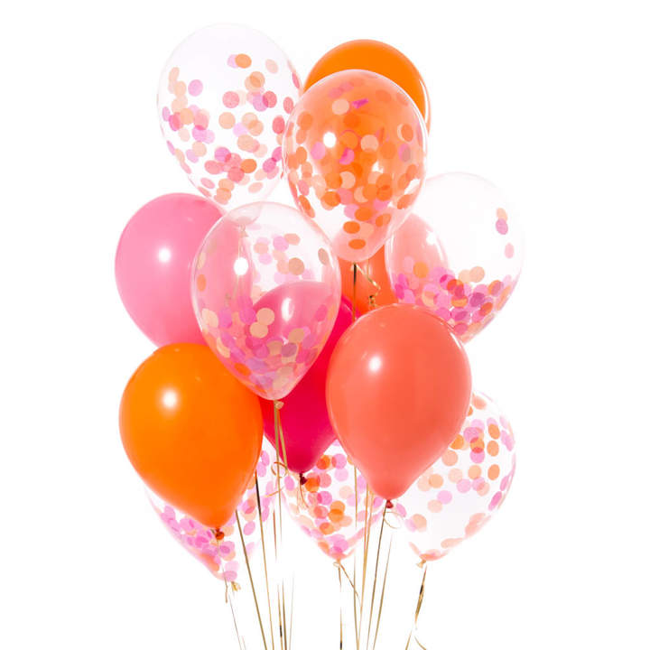 Bubblegum Balloons Pack Of 14 Flamingo Pink Party Confetti Balloons
