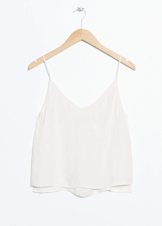 And other stories Scallop Ribbon Tank Top