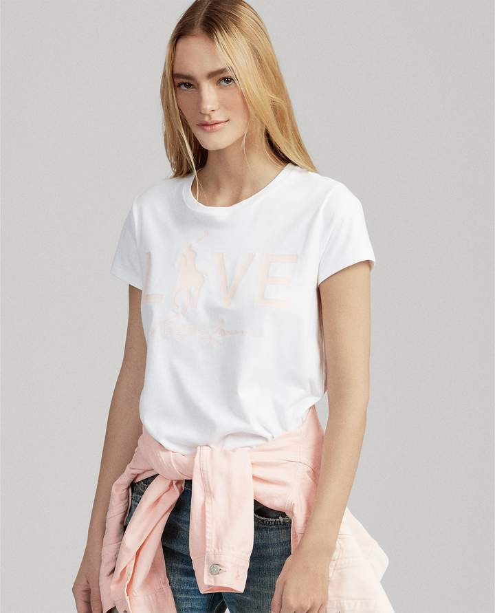 Ralph Lauren Pink Pony Love Graphic T-Shirt