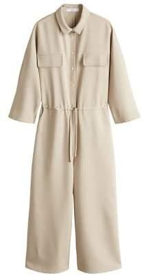 Long chest-pocket jumpsuit