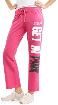 Susan G. Komen Women's French Terry Graphic Varsity Sweatpants