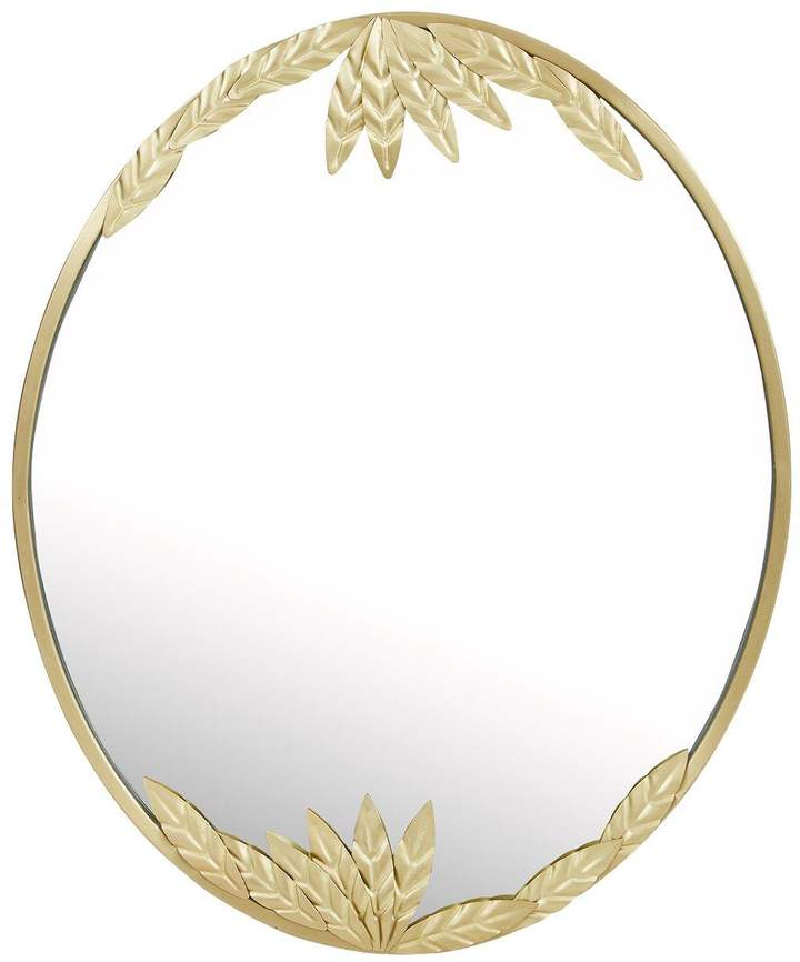 Tropical Leaves Oval Mirror