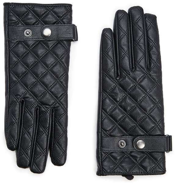 Forever 21 Quilted Faux Leather Gloves