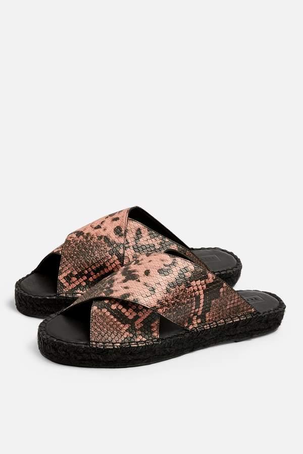 Topshop Womens Freddy Pink Espadrille Sandals - Pink