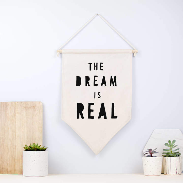Louise and Lygo Positive Quote Fabric Hanging Wall Banner