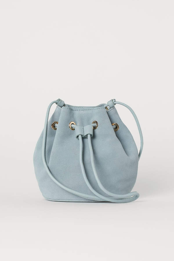 H&M - Small Suede Bucket Bag - Green