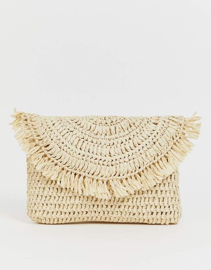 Asos Design ASOS DESIGN straw clutch bag