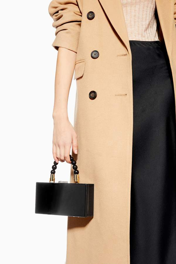 Topshop Womens Gina Ball Boxy Grab Bag - Black