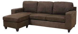 acme sectional sofa chocolate fabric designs pictures furniture sectionals shopstyle at walmart com vogue microfiber