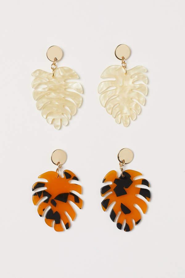 H&M 2 pairs earrings