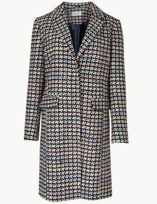 Jacquard Single Breasted Coat
