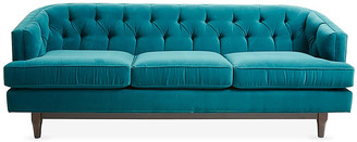 emma tufted sofa two seater recliner india couch shopstyle one kings lane peacock velvet