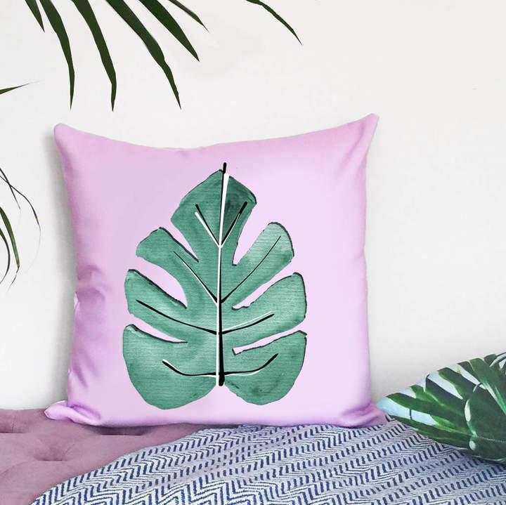 Rianna Phillips Tropical Leaf Print Cushion Cover