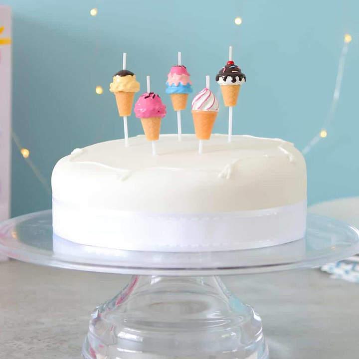 Peach Blossom Ice Cream Birthday Cake Party Candles