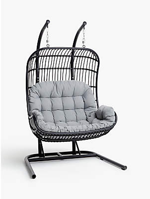 hanging chair notonthehighstreet patio chairs for front porch shopstyle uk john lewis partners cabana double pod garden