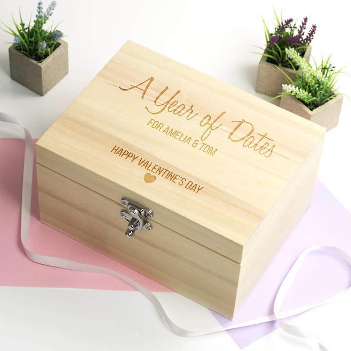 Mirrorin Year Of Dates Valentines Day Keepsake Box
