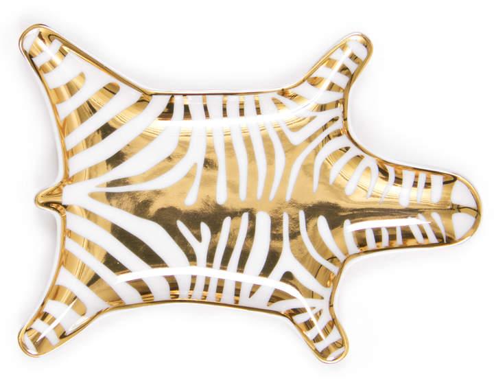 Jonathan Adler Gold Zebra Stacking Dish