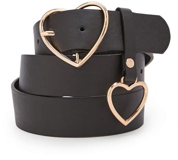 Forever 21 Heart Buckle Belt