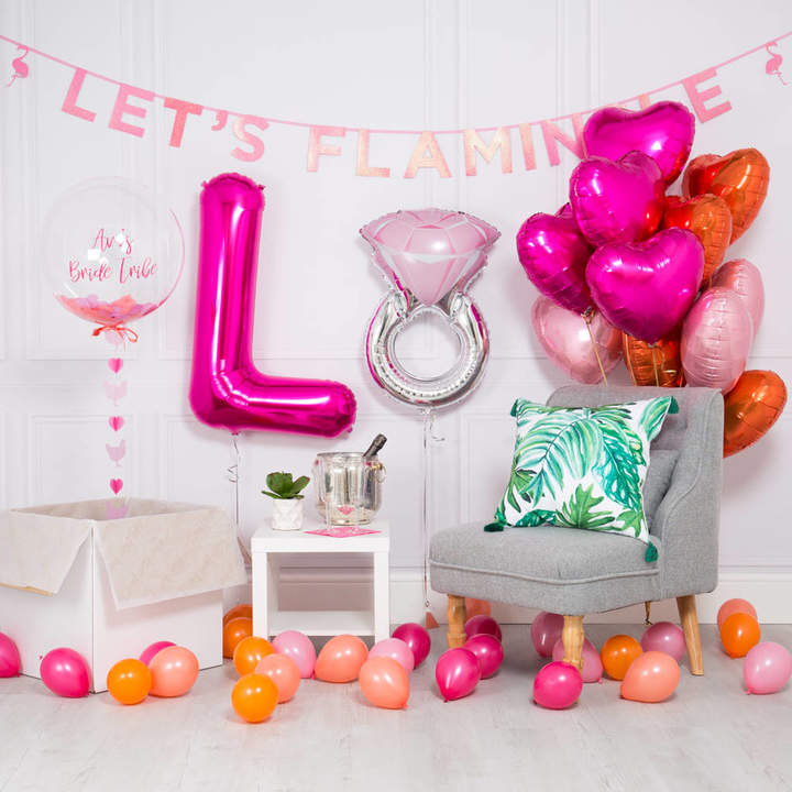 Bubblegum Balloons Inflated Hen Party Package