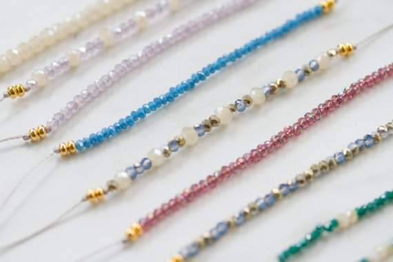 Friendship Bracelet, Delicate beaded Bracelet, Minimalist Bracelet, Adjustable Bracelet, Dainty Bracelet, Simple Gift For Her, Bracelet Pair