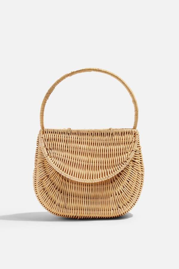 SPLIT Wicker Straw Mini Grab Bag