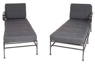 outdoor chaise lounge chair with ottoman rh modern leather dining cushions shopstyle pair of lounges