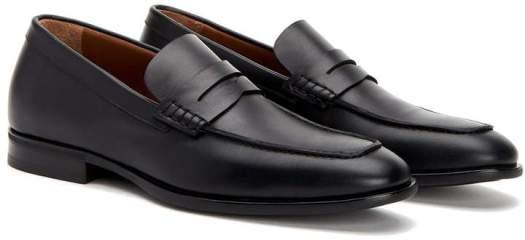 mens black sleek penny loafer aquaitalia