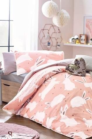 Next Pom Pom Bunny Rabbit Duvet Cover And Pillowcase Set