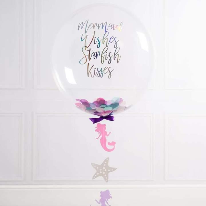 Bubblegum Balloons Personalised Mermaid Bubble Balloon