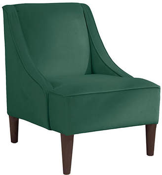 roundhill furniture wonda bonded leather accent chair with wood arms white tall dining table covers chairs shopstyle one kings lane quinn swoop arm green velvet