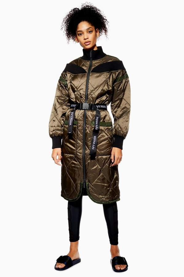 Quilted Bardot Coat by Ivy Park