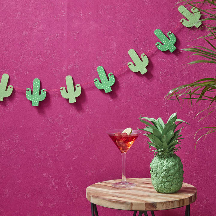 Ginger Ray Tropical Wooden Cactus Bunting Garland