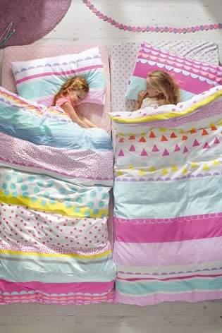 Next 2 Pack Bright Geo Pop Duvet Cover And Pillowcase Set