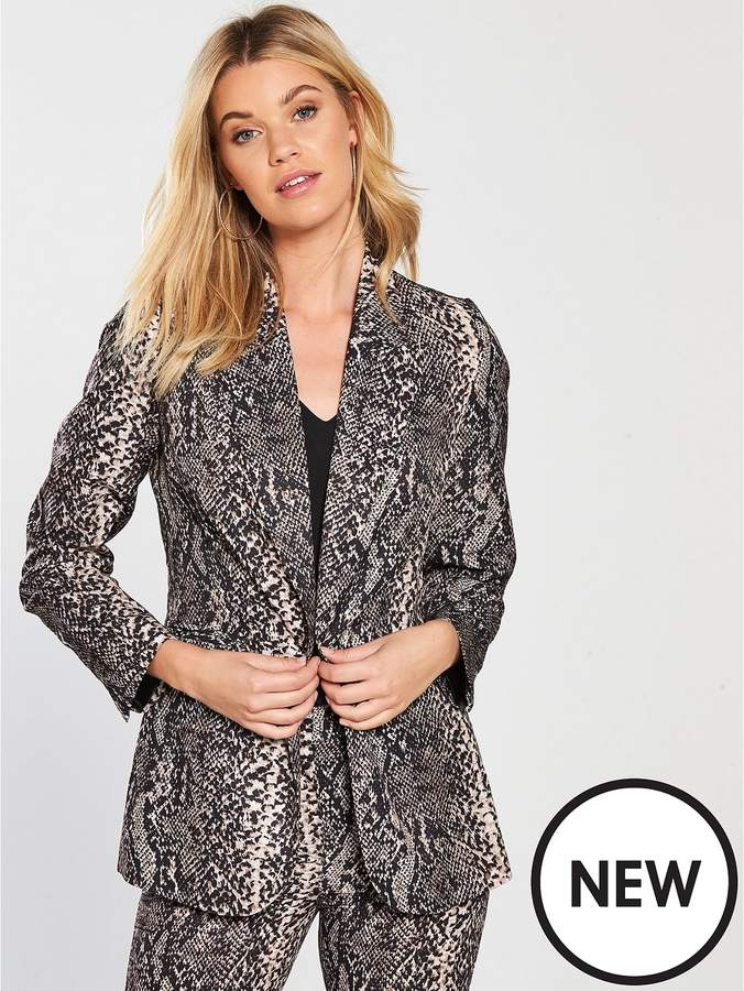 V By Very Snake Print Suit Jacket