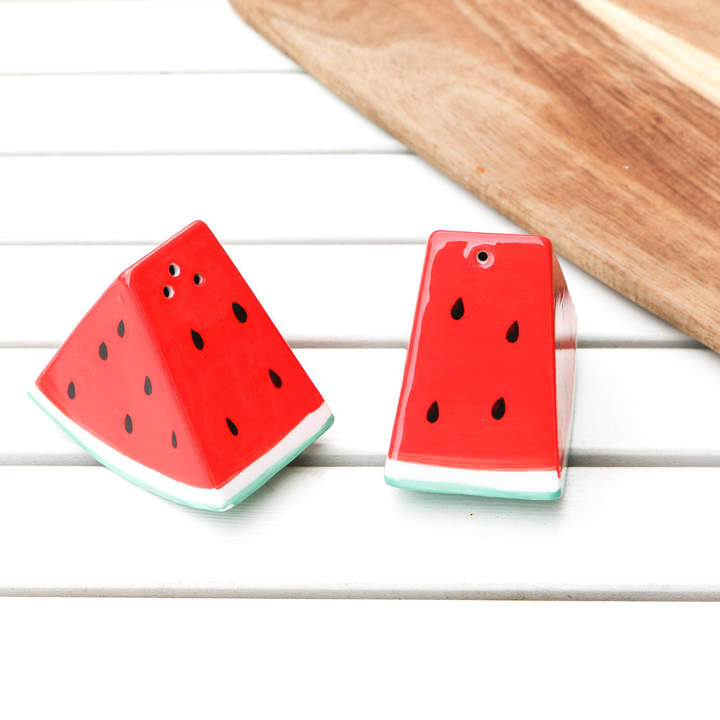 Bonnie and Bell Watermelon Salt And Pepper Shakers