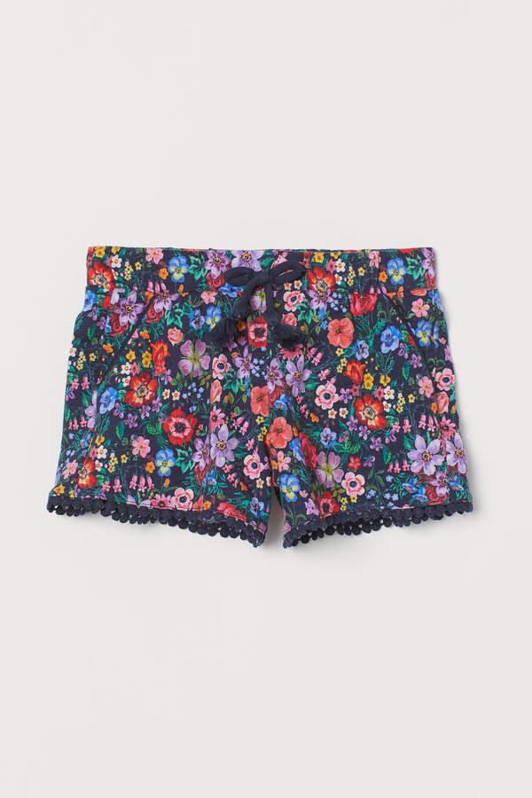 H&M Patterned slub jersey shorts