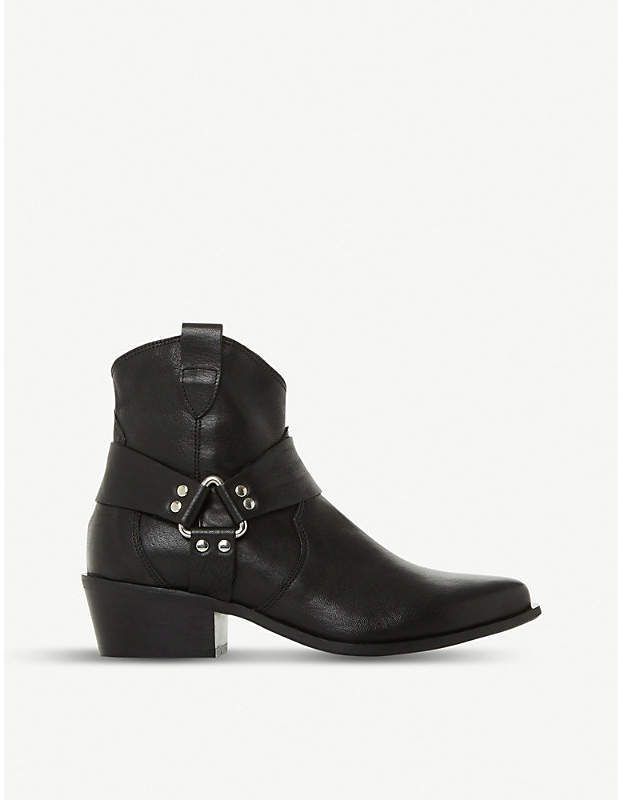 Dune Panchoe leather western boots
