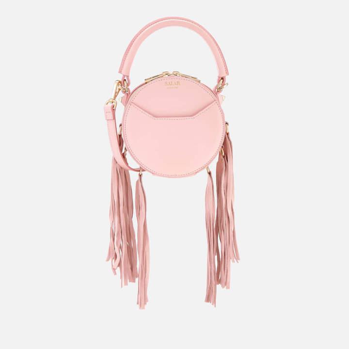 Salar Women's Lea Fringe Cross Body Bag - Pink