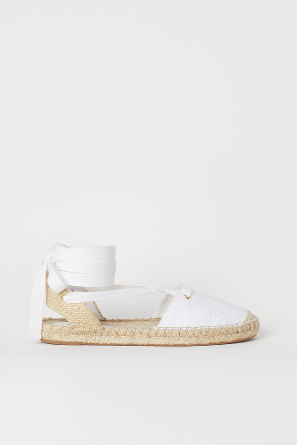 H&M - Espadrilles with Lacing - White