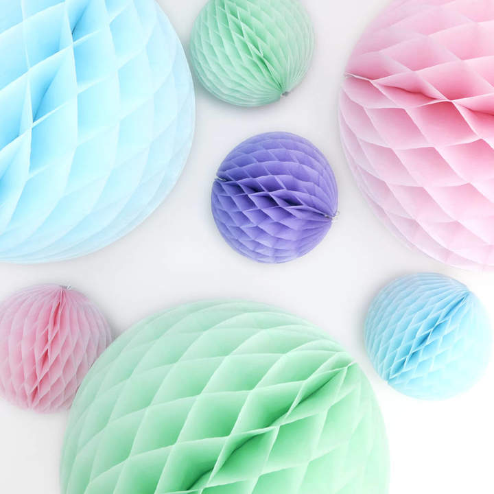 Peach Blossom Easter Pastel Paper Ball Collection
