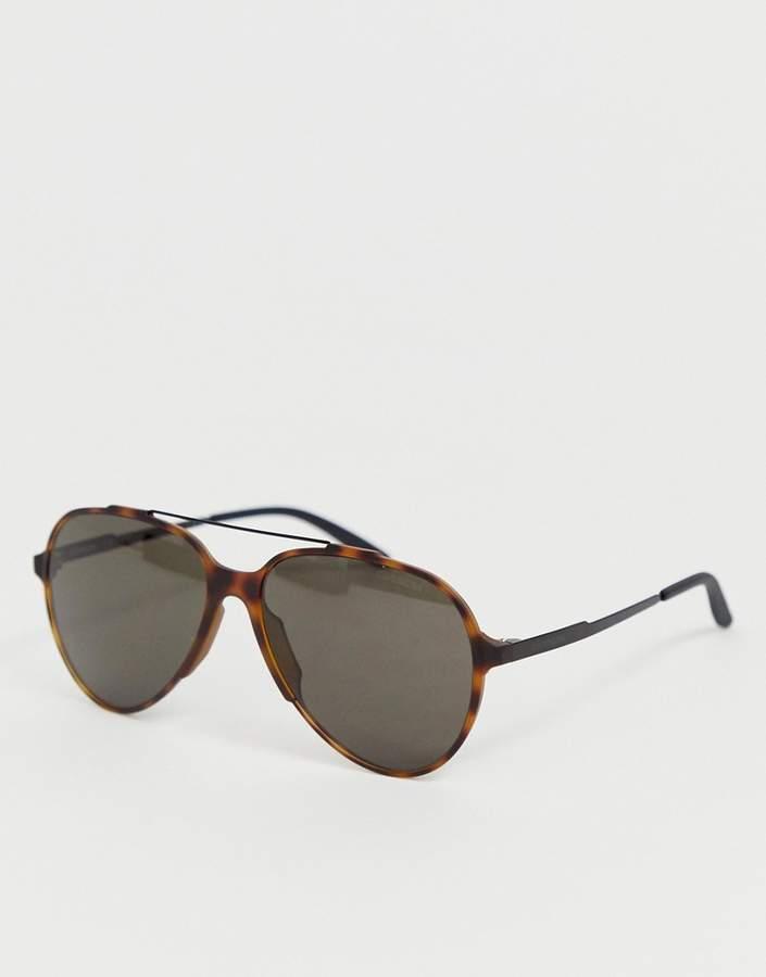 Carrera Carerra Tortoiseshell Aviator Sunglasses
