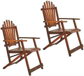 folding chair for living room dining table and chairs set rejuvenation shopstyle pair of charming fan back slatted