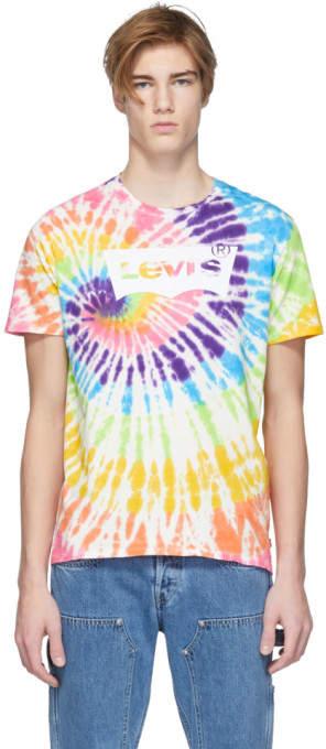 Levis Multicolor Tie-Dye Housemark T-Shirt
