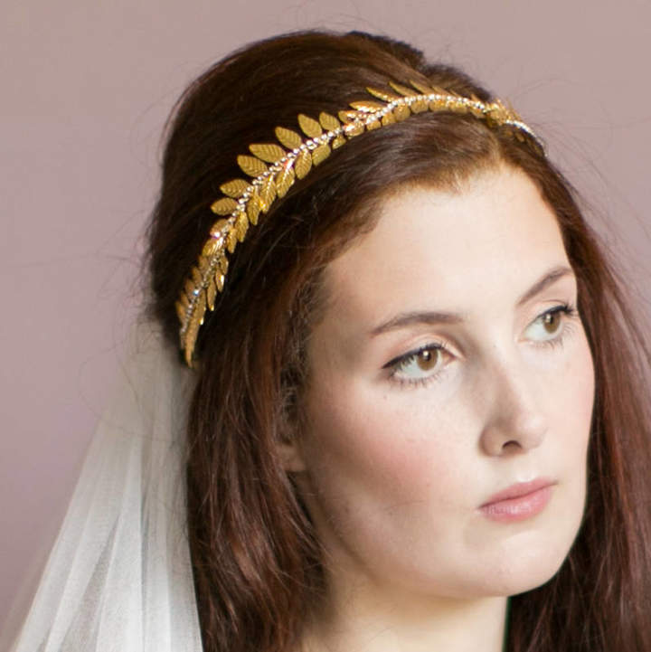Victoria Millesime Gold Dust Grecian Bridal Crown