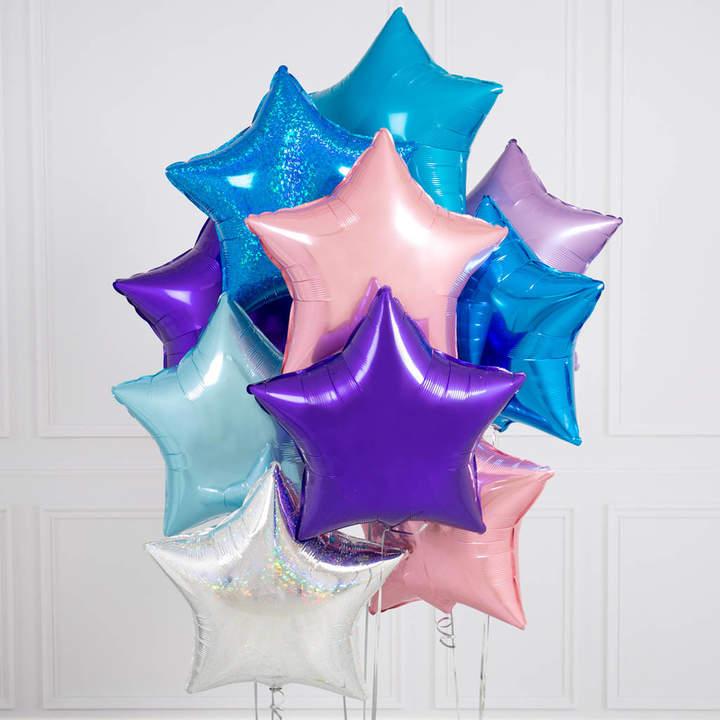 Bubblegum Balloons Ten Mermaid Inflated Star Foil Balloons