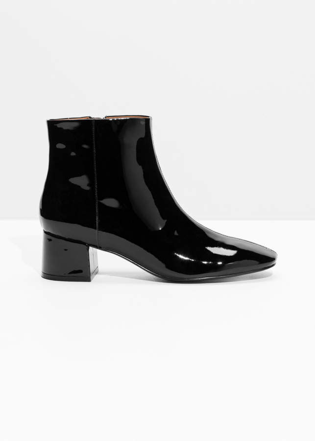 And other stories Patent Leather Ankle Boots