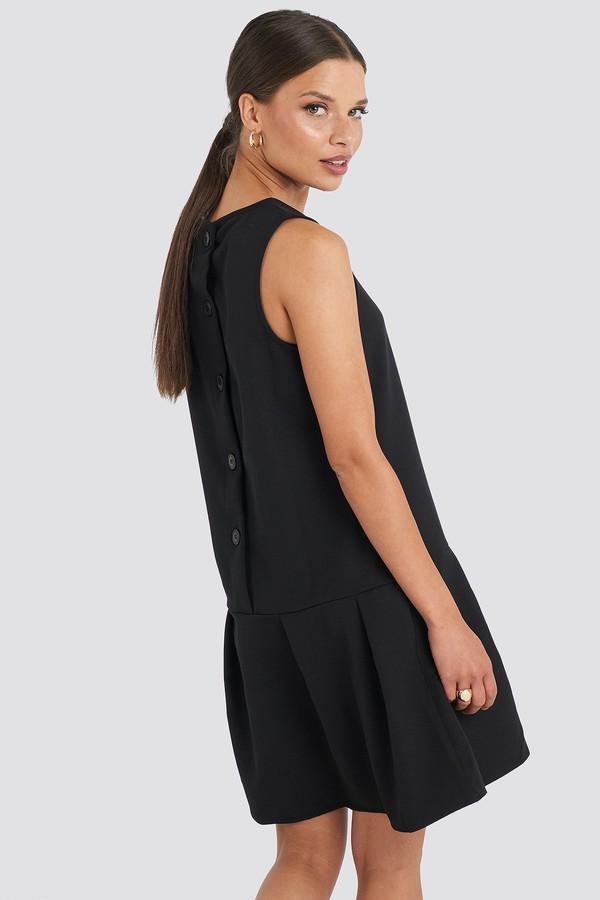 Trendyol Sleeveless Flywheel Mini Dress Black