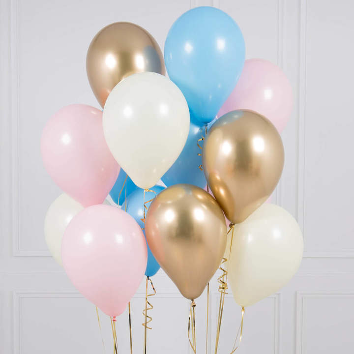 Bubblegum Balloons Pack Of 14 Gender Reveal Party Balloons