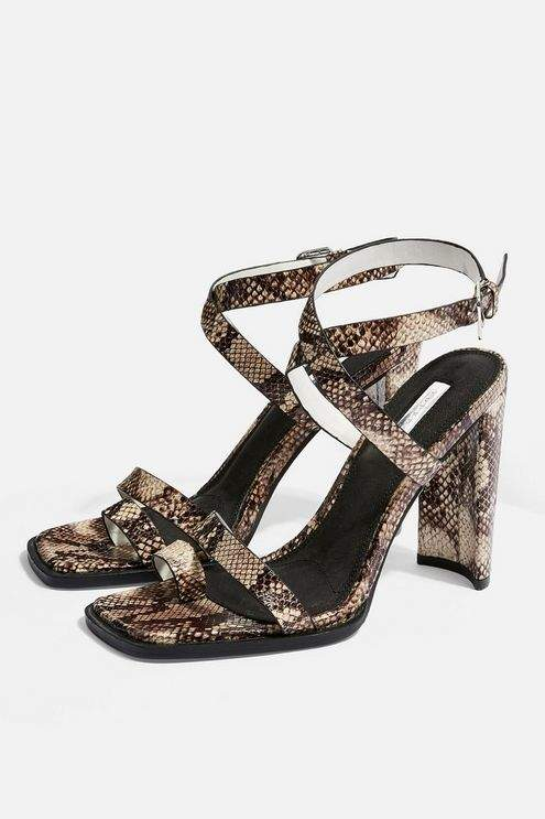 Topshop Womens Reputation Toe Loop Heels - Multi